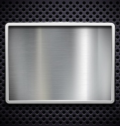 brushed metal Stock vector image vector image