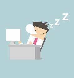 Businessman sleep during working vector image