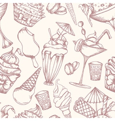 Cake seamless pattern vector