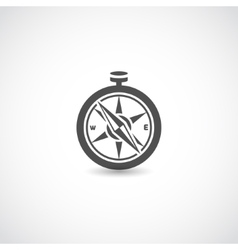 Compass black isolated vector image vector image