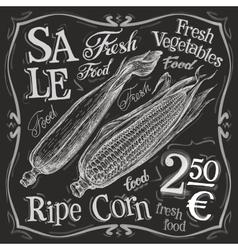 corn logo design template popcorn fresh vector image vector image