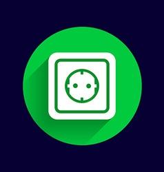 Electric outlet icon button logo symbol concept vector
