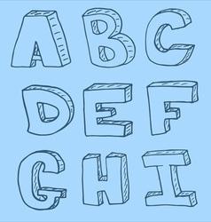 English alphabet - hand drawn vector image vector image