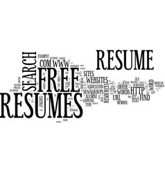 Find free resumes online text background word vector