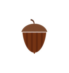 flat acorn icon isolated on white background vector image