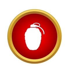 Grenade icon in simple style vector