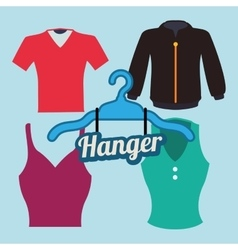 Hanger design vector