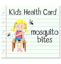 Health card with mosquito bites vector image