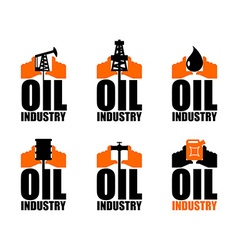 Oil industry logo petroleum production sign logo vector