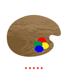 palette icon different color vector image