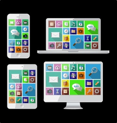 PC laptop tablet and cell phone vector image