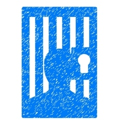 Prison door grainy texture icon vector