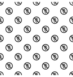 Prohibition sign insects pattern simple style vector