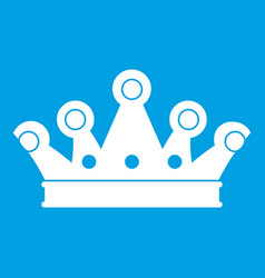 Royal crown icon white vector