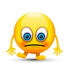 sad emoji character vector image vector image