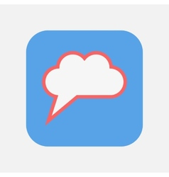speech cloud icon vector image vector image
