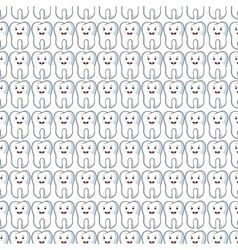 Tooth character pattern background vector
