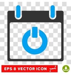 Turn on calendar day eps icon vector
