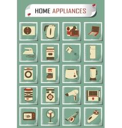 vintage household appliances vector image