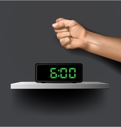 Wake up alarm vector image