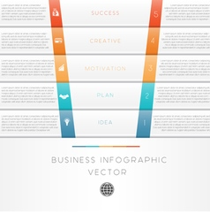 Template infographic strips 5 position vector