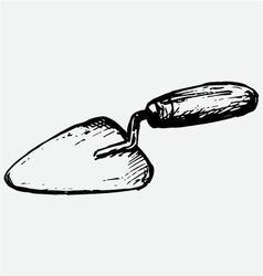 Trowel vector image