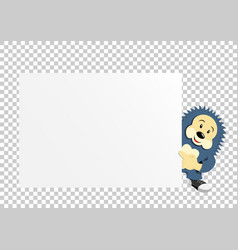 Hedgehog paper transparent vector