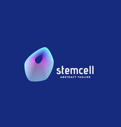 Stem cell abstract sign emblem or logo vector
