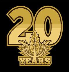 LaurelNew New 20 godina resize vector image