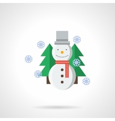 Wintertime flat color icon vector