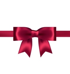Shiny red satin ribbon on white background vector