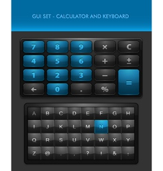 User Interface Elements - Calculator and Ke vector image