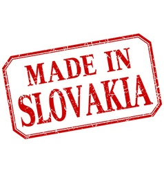 Slovakia - made in red vintage isolated label vector