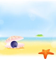 Summer pearls beach background vector