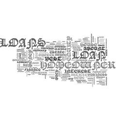 A brief look at homeowner loans text word cloud vector