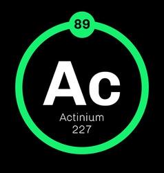 Actinium chemical element vector