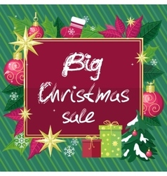 Big Christmas Sale Flat Style Concept vector image