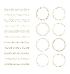 Brush and laurel wreath set vector