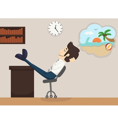 Businessman relax dream vector