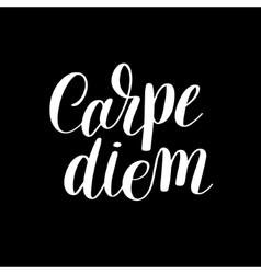 Carpe diem hand written lettering positive quote vector image