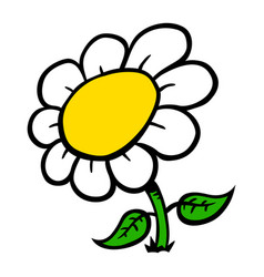 cartoon flower vector image vector image