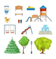 City Park Icon Set vector image vector image
