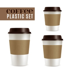 Coffee covers set vector