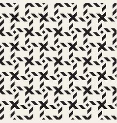 Crosshatch seamless geometric pattern vector