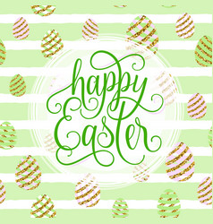 Cute happy easter greeting vector