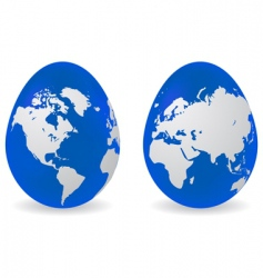 eggs with global map pattern vector image vector image