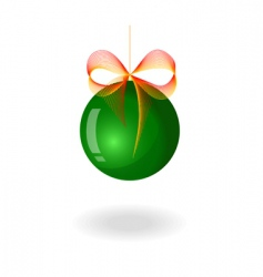 Fir tree sphere vector image vector image