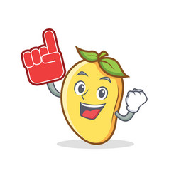 Foam finger mango character cartoon mascot vector