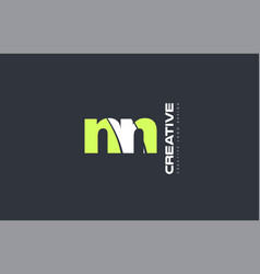 green letter nn n n combination logo icon company vector image