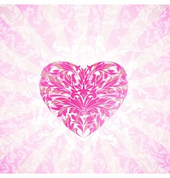 Happy Valentines Day Floral Background vector image vector image